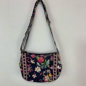 Vera Bradley black pink floral shoulder bag